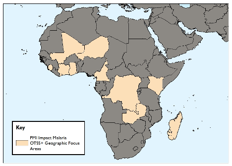 Figure 1. IM-supported countries conducting OTSS+